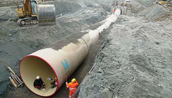 Hobas hydropower pipeline Castellarano Italy