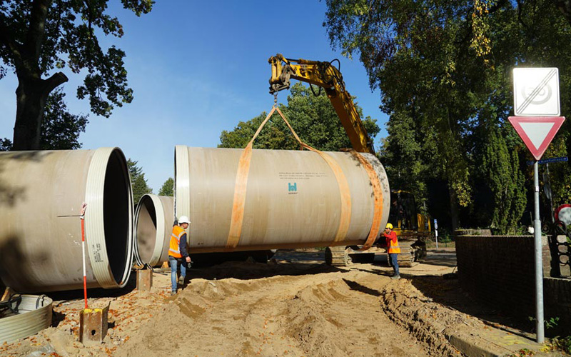 Hobas stormwater sewer 3000 mm in Berg-en-Dal