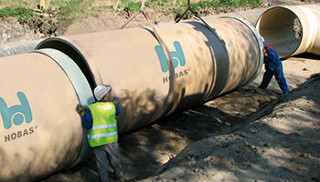 Hobas sewer pipes Rawa Poland