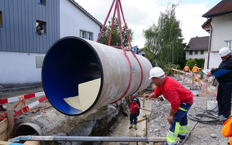 Multi-purpose Hobas PU line culvert in Switzerland